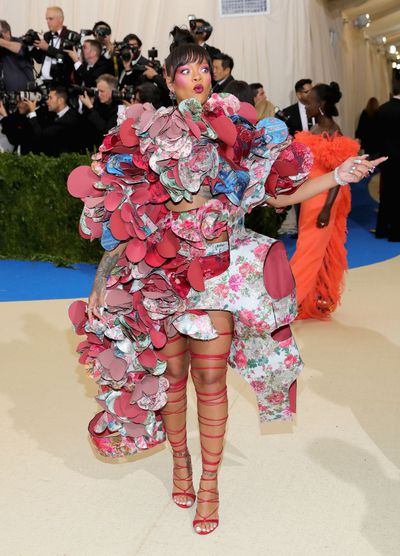 Rihanna in Comme des Garcons at the 2017 Met Gala, Rei Kawakubo/Comme des Garcons: Art Of The In-Between