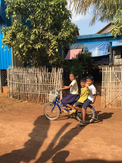 Often two wheels is better than four in Cambodia.