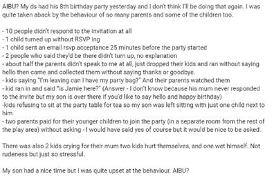 Mum's birthday post