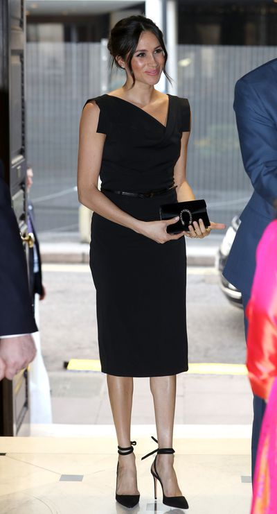 Meghan Markle in a dress from Black Halo at the Royal Aeronautical Society on April, 2018
