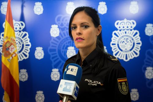 Spanish police announce the capture.