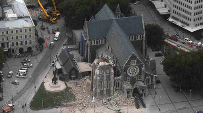 The February 2011 Christchurch earthquake destroyed the spire and part of the tower, and severely damaged the structure of the remaining building. Another quake four months later would bring down the cathedral's west wall and remainder of the tower was demolished in March 2012.