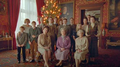 The Royal Family as seen in the first Spencer trailer