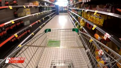 Supermarket giants say COVID-19 isolation is driving shortages.
