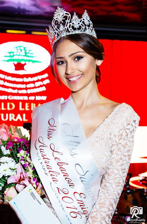 Najah Jackson-Ghamrawi was named Miss Lebanon Emigrant Australia in 2016. Picture: Rizz O Graphy