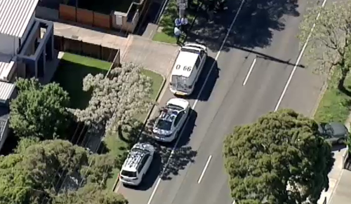 A child was rushed to hospital just after 2.45pm. (9NEWS)