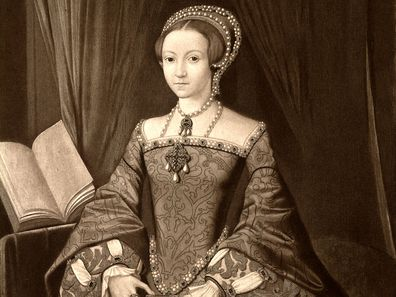 Illustration of Elizabeth I 10 years before she took the throne.