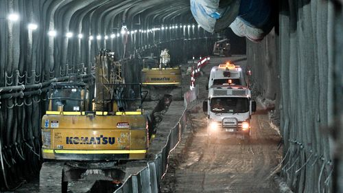 The Electrical Trade Union pulled more than 200 workers downed tools on Tuesday when raw sewage overflowed from a portable toilet into the tunnel.