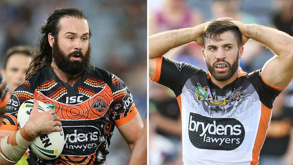 Aaron Woods and James Tedesco are tossing up their future with the Wests Tigers