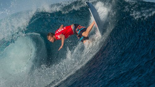 ASP World Surfer and Perth local, Taj Burrow, said it's the biggest surf he's ever seen to hit WA. Taj is pictured here competing in the 2014 Fiji Pro. (AAP)