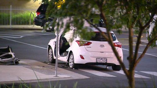 The driver initially fled the scene but later returned. (9NEWS)