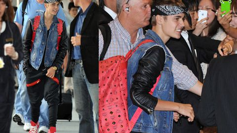 Justin Bieber, what the hell are you wearing on your head?
