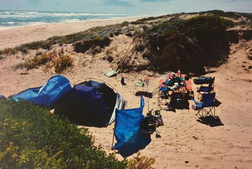 The campsite where the group set up at Salt Creek. (60 Minutes)