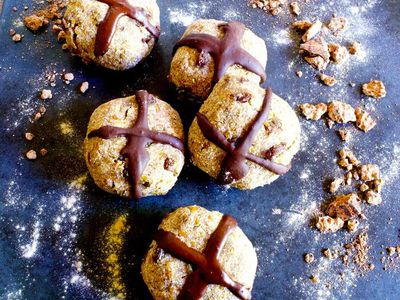 """<a href=""""http://kitchen.nine.com.au/2017/04/03/11/53/raw-vegan-hot-cross-bun"""" target=""""_top"""">Raw vegan hot cross bun</a><br /> <br /> <a href=""""http://kitchen.nine.com.au/2016/06/06/21/42/healthier-versions-of-your-favourite-easter-treats"""" target=""""_top"""">More healthy versions of your favourite Easter treats</a>"""