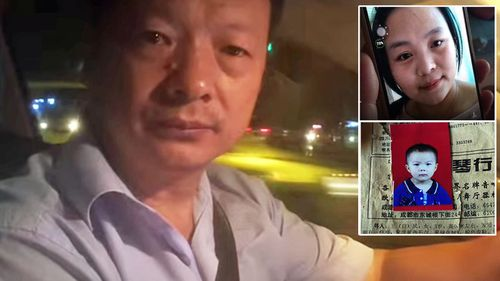Wang Mingquing  took a job as a taxi driver and then private driver in the hope she would one day be a passenger. (Youtube/CGTN)