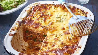 Beef sundried tomato and spinach lasagne