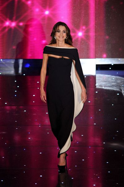 Queen Rania of Jordan in San Remo Italy, February 2010