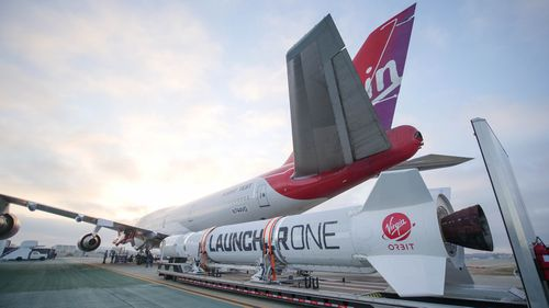 Virgin Orbit's LauncherOne, which can launch satellites into space.