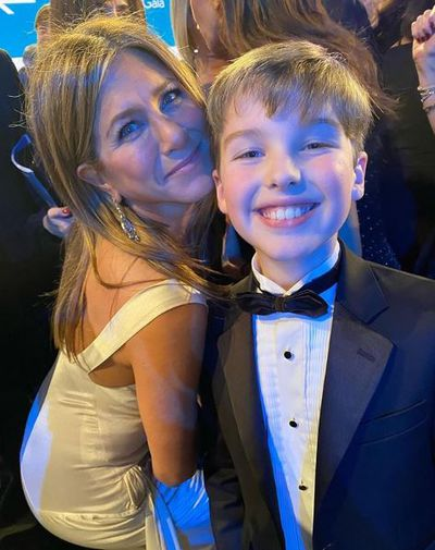 Jennifer Aniston and Iain Armitage