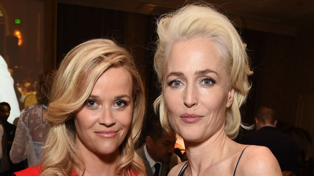 Reese Witherspoon and Gillian Anderson attend the 18th Annual AFI Awards at Four Seasons Hotel Los Angeles on January 5