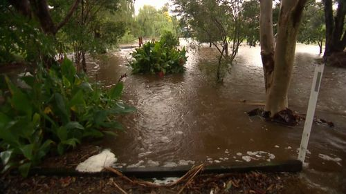 750 calls for help were made to the NSW SES overnight as well, with residents reporting water entering homes and properties. Picture: 9NEWS.