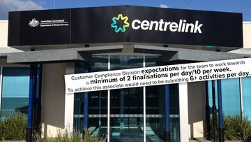 An excerpt taken from a former Centrelink compliance officer's performance review, which outlines the number of debt finalisations each member of her team were expected to complete.