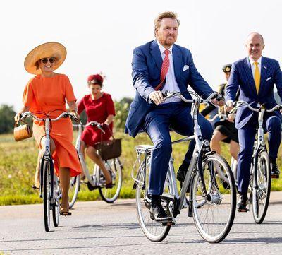 Queen Maxima's ultra-glamorous bike ride