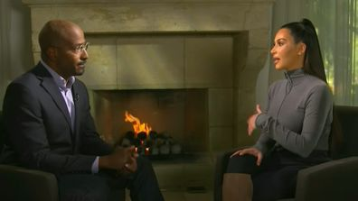 Van Jones and Kim Kardashian during CNN interview.