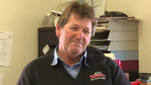 """Winton Operations Manager Wayne Williams said the racing team in the video would be """"banned"""" from the raceway. (9NEWS)"""