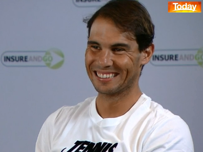 Nadal also had some fun with the Australian accent.