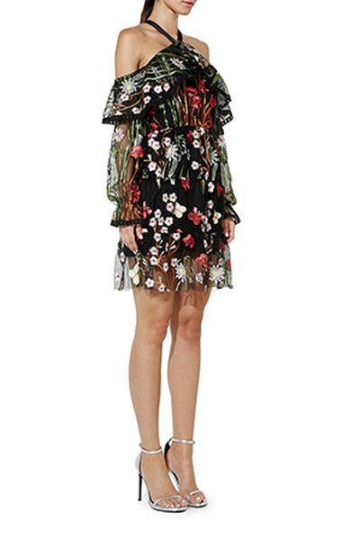 "Mossman midnight garden dress, $209.95 at <strong><a href=""https://www.myer.com.au/shop/mystore/cocktail-party-dresses/mossman-the-midnight-garden-dress"" target=""_blank"">Myer</a></strong><br />"