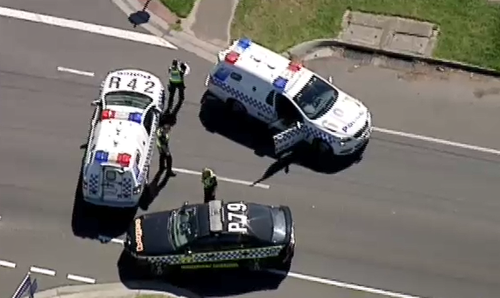 Police have blocked off Maddox Road as they investigate. (9NEWS)