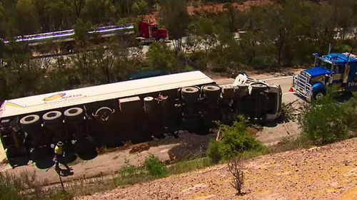 Traffic was slowed for several hours. (9NEWS)