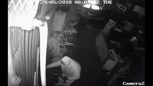 The man tried to break into other businesses before fleeing.