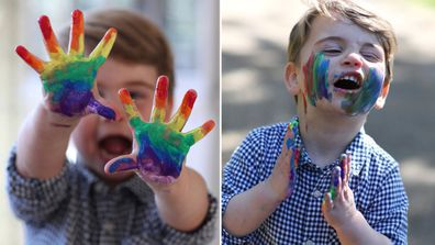 Prince Louis with paint on his face instagram v reality