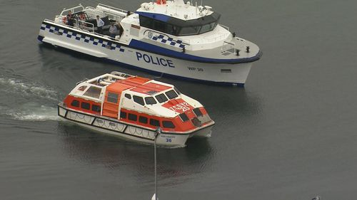 Police escorted NSW Health and an independent medical team to the cruise ship.