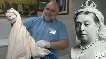 Queen Victoria's 'knickers' found in pile of lace
