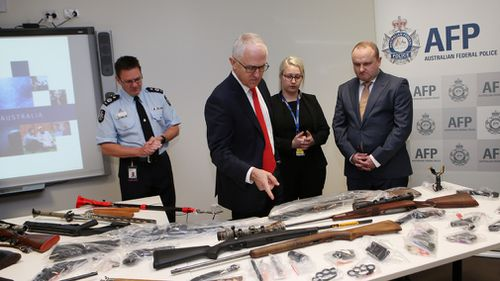Mr Turnbull detailed the anti-gang effort between the Federal and Victorian Police. (9NEWS)
