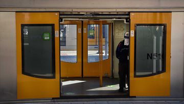 The man was arrested at Hornsby train station.