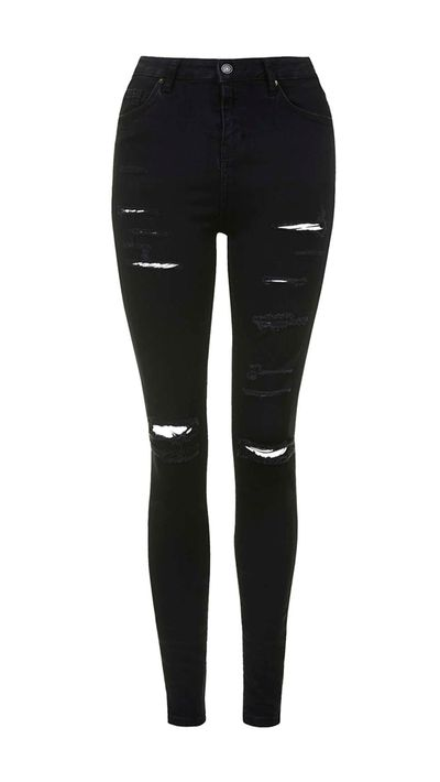 """<a href=""""http://www.topshop.com/en/tsuk/product/we-love-432/easter-egg-hunt-4256269/moto-super-ripped-jamie-jeans-4240780"""" target=""""_blank"""">Jeans, approx. $96, Topshop</a>"""