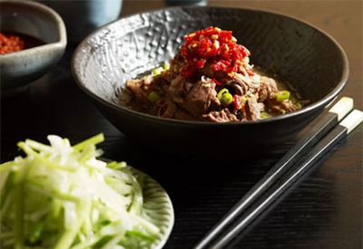 Shredded lamb shoulder with salted chilli