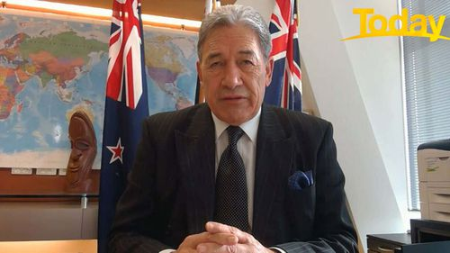 New Zealand Deputy Prime Minister Winston Peters says the country is prepared for the worst. (Nine/Today)