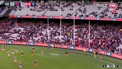 Melbourne's Clayton Oliver plays through pain barrier in record AFL win over Carlton