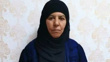 Turkish officials provided this picture of a woman they say is Rasmiya Awad, the sister of slain Islamic State leader Abu Bakr al-Baghdadi.