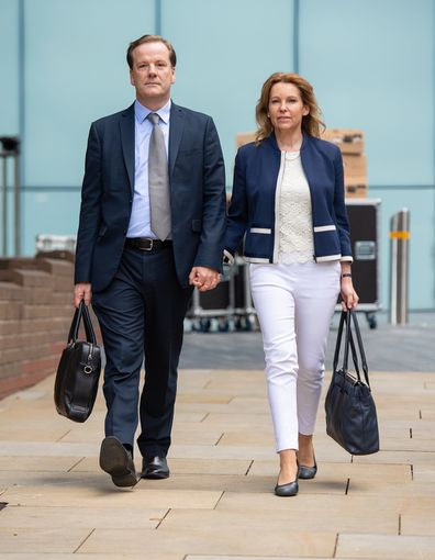 Former Conservative MP Charlie Elphicke leaves Southwark Crown Court in London where he was found guilty of three counts of sexual assault.