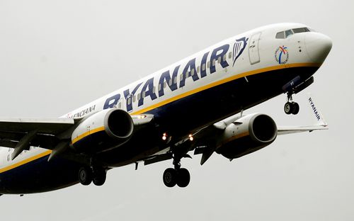 A Ryanair flight from Dublin to Zadar, Croatia, was diverted to Frankfurt-Hahn Airport. Picture: AAP