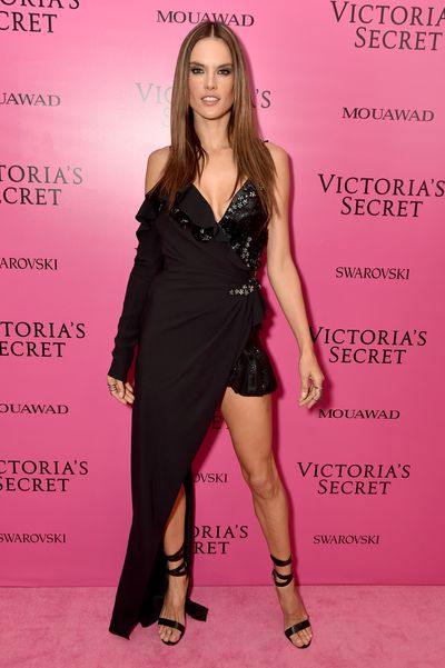 Alessandra Ambrosio in Versace at the 2017 Victoria's Secret Fashion Show After Party