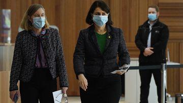 NSW Premier Gladys Berejiklian and NSW Chief Health Officer Dr Kerry Chant