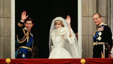 Prince Charles and Princess Diana wedding day.