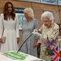 Queen's sassy remark as she insists on cutting a cake with a literal sword